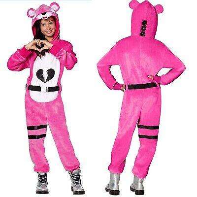 $ CDN46.27 • Buy Fortnite Cuddle Team Leader Costume Cosplay Youth Girls Pink Hooded Jumpsuit L