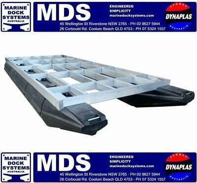 AU7617.50 • Buy 5.7 X 2.4 PONTOON BASE BUILD YOUR BBQ FISHING WORK DIVE PARTY BARGE HOUSE BOAT