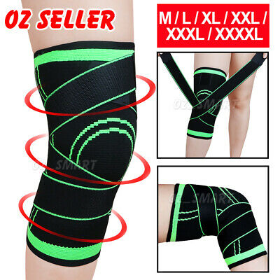 AU10.29 • Buy 3D Knee Support Brace Compression Sleeve Arthritis Pain Relief Gym Sport Running