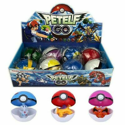 8-24Pcs PokeBall Set Pokemon GO Action Figures Christmas Kids Toy Gift • 11.78£