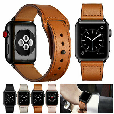 $ CDN7.80 • Buy Genuine Leather Band Strap For Apple Watch Series 5 4 3 2 1 IWatch 38/42/40/44mm