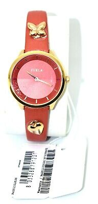 CO NWT FURLA Pink Butterfly Heart Charm Quartz Water Resistant Leather Watches  • 66.79£