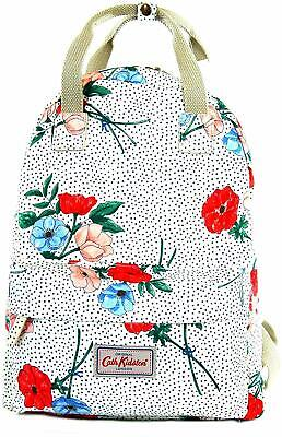 Cath Kidston Backpack/Rucksack Saltwick Bunch In Stone & Pink Oilcloth • 39.99£