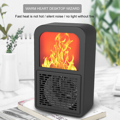 $20.99 • Buy Portable  Electric Wall Mounted Fireplace Simulated Flame Heater Warmer Blower