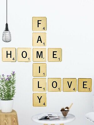 AU4 • Buy Scrabble Letters MDF Wall Decor (Per Letter)