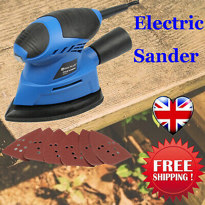 130W Electric Hand Held Sander Power Tool For DIY Wood Wooden Furniture UK • 19.49£