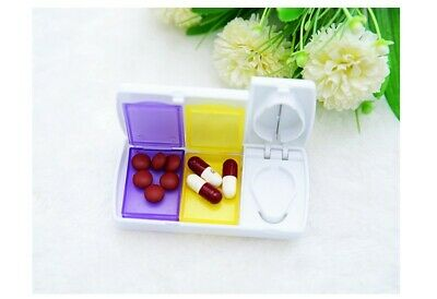 AU5.25 • Buy Pill Cutter Tablet Splitter Medicine Case Pill Box Portable Pill Box
