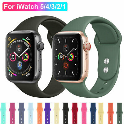 $ CDN5.28 • Buy For Apple Watch SE IWatch Series 6 5 4 3 38/40/42/44 SILICONE Sports Strap Band