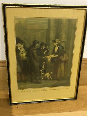 """£18.99 • Buy Framed Antique Framed Cries Of London Engraved Print F Wheatley """"A New Love Song"""