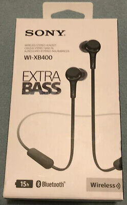 Sony WI-XB400 Extra Bass Wireless In-Ear Headphones With Mic-Bluetooth Black • 20.71£