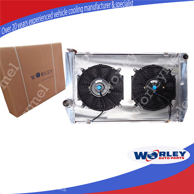 AU250 • Buy Aluminum Radiator For FORD FALCON V8 6CYL XC XD XE XF 1977-1986 Shroud Fan