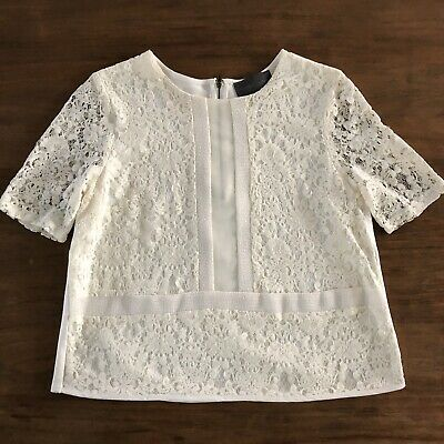 $ CDN33.13 • Buy Anthropologie Sunday In Brooklyn Ellis Lace Top Ivory Size Large