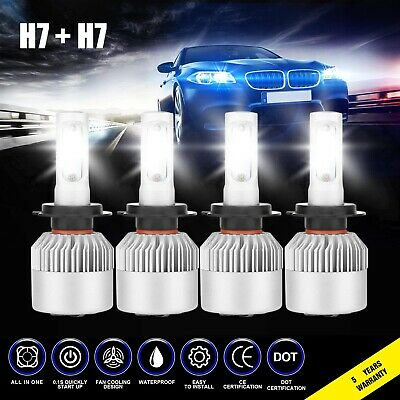 $13.97 • Buy 4x H7 H7 3830W 574500LM Combo LED Headlight High Low Beam Bulbs 6000K White