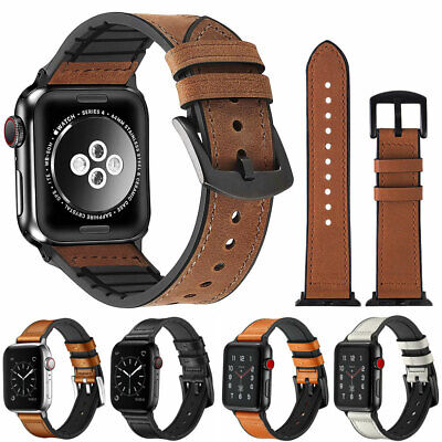 $ CDN9.14 • Buy 40/44/38/42mm Genuine Leather Band Strap For Apple Watch IWatch Series 5 4 3 2 1