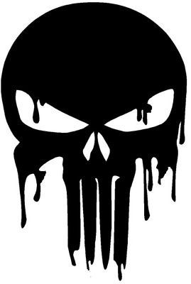 S To Large BLOODY  PUNISHER SKULL CAR DECAL VINYL STICKER BUMPER LAPTOP  G0080 • 15.99£
