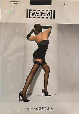 New@@ Hold-Ups Fancy Black 15 Den + WOLFORD Glamourous + S (FR40/42) • 27.25£