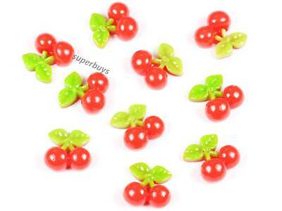 10pcs Cherry Figurine For Cake Decoration Topper Figure Toy Decorate PVC Set • 5.02£
