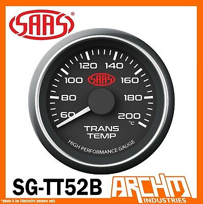 AU64.65 • Buy SAAS Transmission Oil Temperature Temp 60-200 Performance Gauge Black Dial 52mm