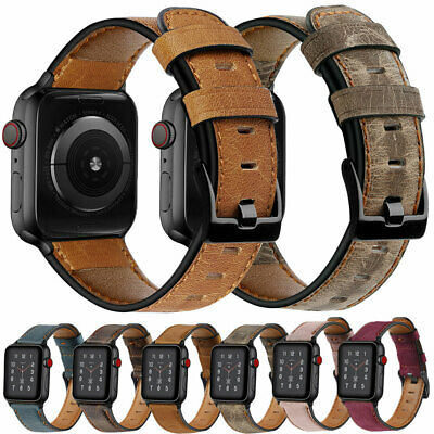 $ CDN10.21 • Buy 38/42/40/44mm Genuine Leather Band Strap For Apple Watch IWatch Series 5 4 3 2 1