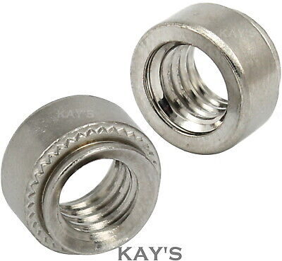 Self Clinching Nuts Stainless Steel Round Threaded Swage Inserts M3 M4 M5 M6 M8  • 3.85£