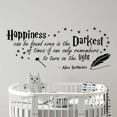 Harry Potter Happiness Albus Dumbledore Wall Sticker Kids Room Wall Art DECAL • 14.48£