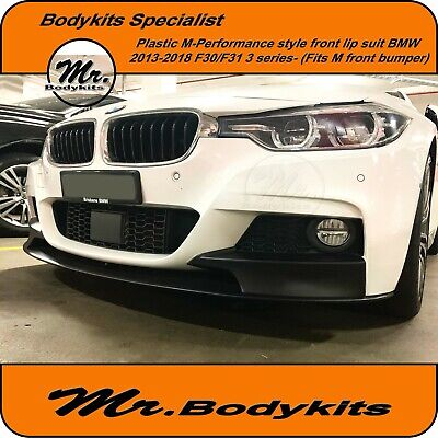 AU285 • Buy M Style Front Lip Spoiler Suit BMW F30/F31 2013-2018 (Fits M-Performance Bumper)