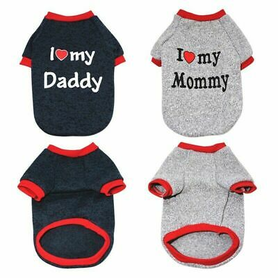 Pet Pug Yorkie Sweater I Dog Puppy For Mummy/Daddy Clothes Love Jumper Small Cat • 3.32£