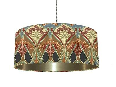 *6 Brushed Linings* Vintage Liberty Ianthe Fabric Lampshade Black Red  • 50£