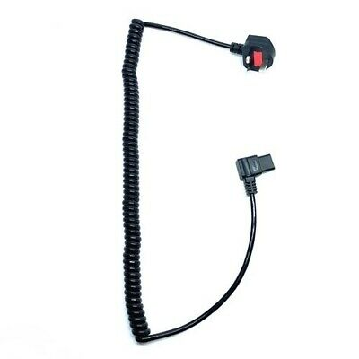 UK Mains To 90 Degree IEC C13 1.m COILED To 3.5m Cable Power Kettle Lead Cord • 27£
