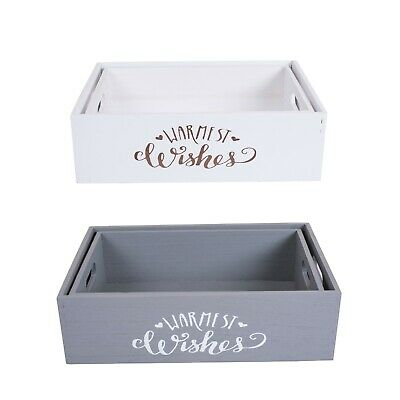 WH Wooden Crates Retail Display Shelve Storage Box Gift Hamper Christmas Eve  • 10.99£