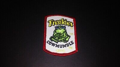 Vtg Original 1970s FREAKIES Cereal COWMUMBLE Small Patch Funny Monster • 45$