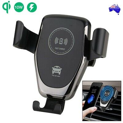 AU16.94 • Buy Qi Wireless Car Charger Dock Air Vent Mount Gravity Holder For Mobile Phone AU