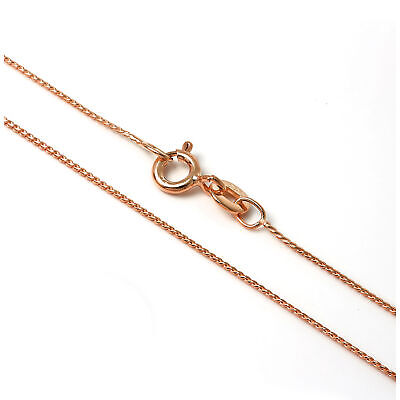 Rose Gold Plated Sterling Silver 14 - 28 Inch Foxtail Chain Necklace • 4.95£