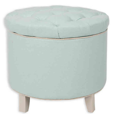$139.99 • Buy NEW Safavieh Hudson Collection Amelia Tufted Storage Ottoman, Robin's Egg Blue
