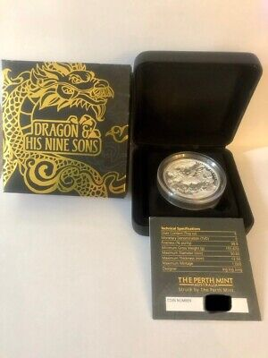 AU400 • Buy 2016 $5 Dragon And His Nine Sons 5oz Silver Proof High Relief Coin