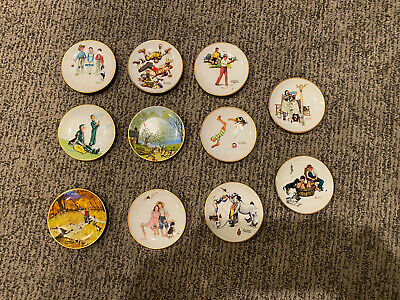 $ CDN39.22 • Buy Lot Of 11 Norman Rockwell Four Seasons Mini 4'' Collector Plates