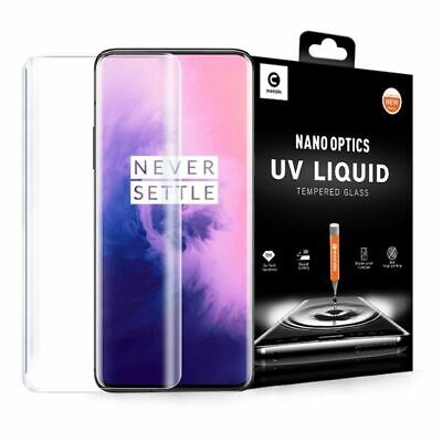 Mocolo 3D UV LED LIQUID Clear Tempered Glass Screen Protector For OnePlus 7T Pro • 10.99£