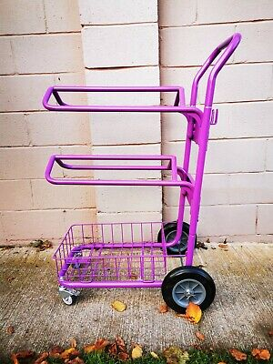 £145 • Buy 3 Tier Saddle And Bridle Rack Push Along Trolley Heavy Duty - Purple