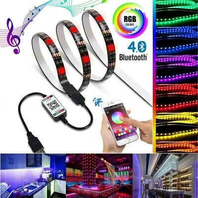 $9.49 • Buy 5V USB LED Strip Light RGB 5050 TV Backlight COLOUR CHANGING Bluetooth APP Music
