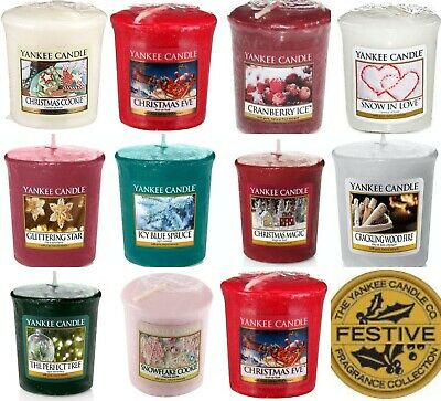 8 X Yankee Candle Votives / Samplers -8 Different Christmas Scented Votive • 15.99£