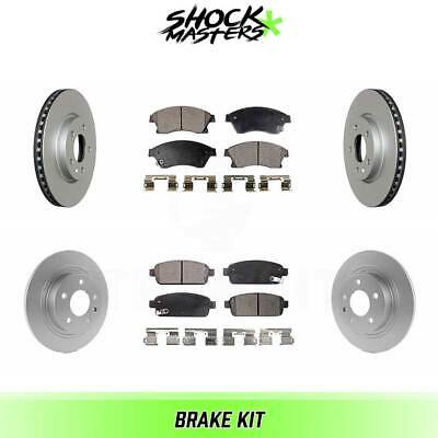 $156.41 • Buy Front & Rear Ceramic Brake Pad & Coated Rotor Kit For 2012-2017 Buick Verano