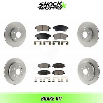 $168.51 • Buy Front & Rear Ceramic Brake Pad & Coated Rotor Kit For 2013-2016 Cadillac ATS