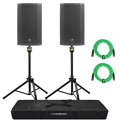 $989.96 • Buy Mackie Thump12BST 1300W 12  Boosted Powered PA DJ Speakers + Stands + Cables