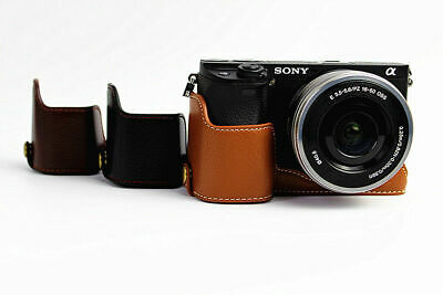 $ CDN17.26 • Buy PU Leather Case Grip+ Hand Strap+ Screen Protectors For Sony A6400 A6300 A6000
