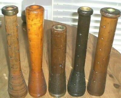 $49.99 • Buy Lot Of 5 Large Antique Wooden Spindles, Four 12 , One 10