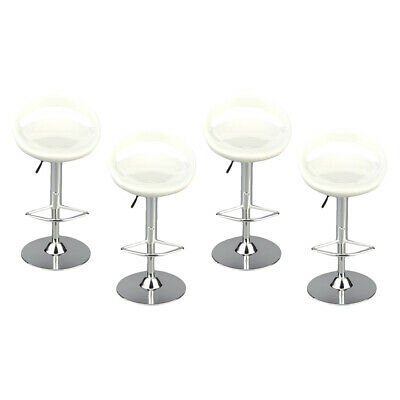 $37.86 • Buy 4pack 1/6 Swivel Chair Bar Stool For Enterbay 12in Figures Accessories White