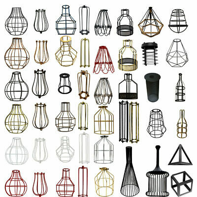 All Wire Cage Industrial Light Metal Frame Vintage Shade Lamp Guard Bar Cafes UK • 9.88£