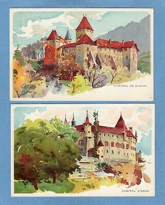 $ CDN21.37 • Buy 2 Chateau De Blonay D'Oron  Peter & Kohler Chocolate Advertising Swiss Pcs U843