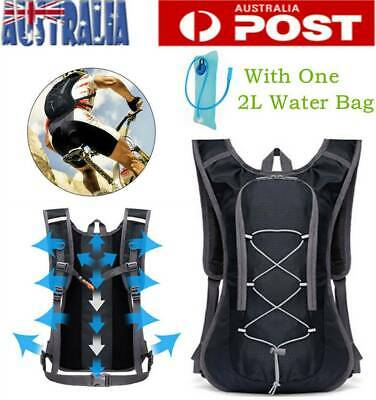 AU23.76 • Buy Camping Hiking Cycling Running Hydration Pack Backpack Bag + 2L Water Bladder AU