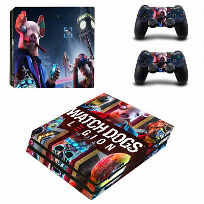 AU19.95 • Buy Playstation 4 PS4 Pro Console Skin Decal Sticker Watch Dogs +2 Controllers